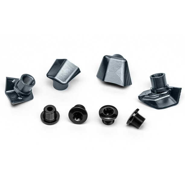 absoluteBLACK Bolt Cover for Dura Ace 9100 incl. Bolts grey