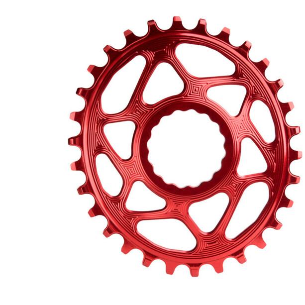 absoluteBLACK Ovales Kettenblatt Spiderless Boost148 für Race Face Cinch red