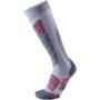 UYN All Mountain Ski Socken Damen light grey melange/coral