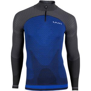 UYN Running Alpha OW LS Zip-Up Shirt Men, persian blue/charcoal persian blue/charcoal
