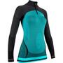 UYN Running Alpha OW Zip-Up Langarmshirt Damen türkis/schwarz