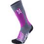 UYN All Mountain Ski Socks Dam medium grey melange/purple