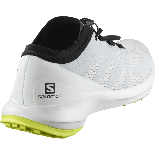 Salomon Sense Flow Shoes Herr illusion blue/white/safety yellow