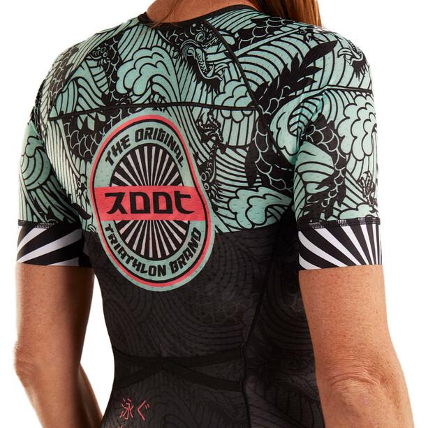 Zoot LTD Tri Aero Kurzarm Racesuit Damen tokyo white rays
