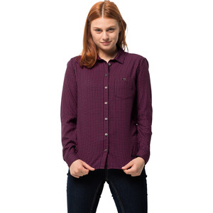 Jack Wolfskin Alin Shirt Damen amethyst checks amethyst checks