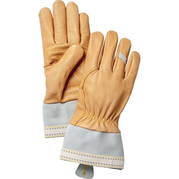 Hestra Skullman 5-Finger Handschuhe natural brown