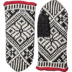 Hestra Nordic Wool Moufles, noir/blanc noir/blanc