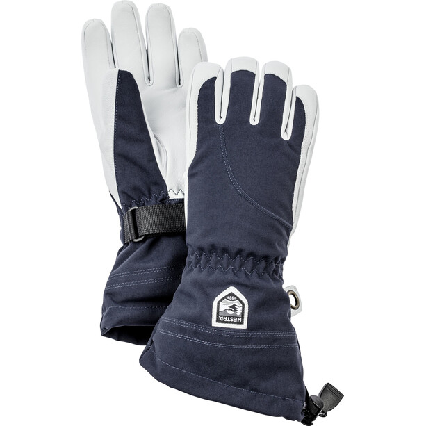 Hestra Heli Ski 5 Finger Gloves Women navy/off-white