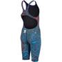 arena Powerskin ST 2.0 Full Body Short Leg Open Back Anzug LTD Edition 2019 Mädchen storm blue/red