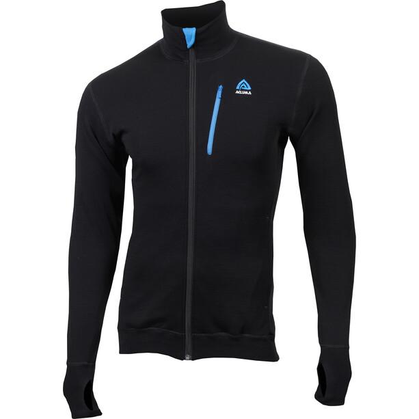 Aclima DoubleWool Jacket Herr Jet Black/Tornado/Brilliant Blue