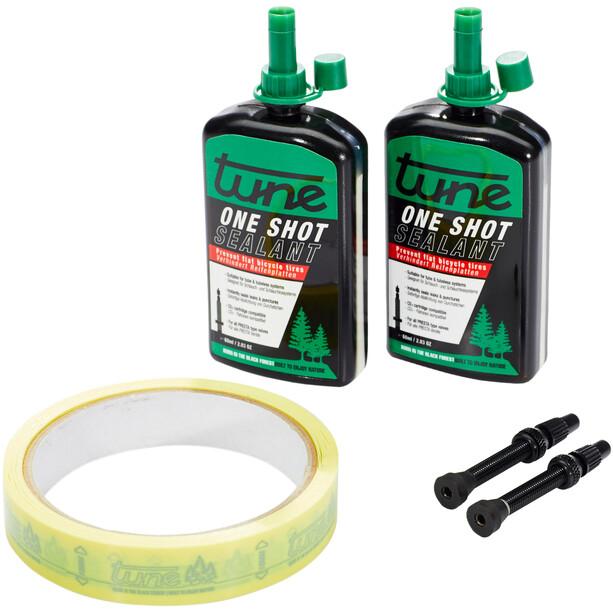 Tune One Shot Tubeless Kit Road 60ml inkl. 18mm Felgenband Schwarz