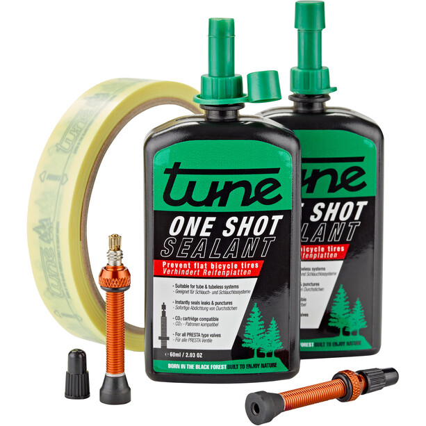 Tune One Shot Tubeless Kit Road 60ml inkl. 20mm Felgenband Orange
