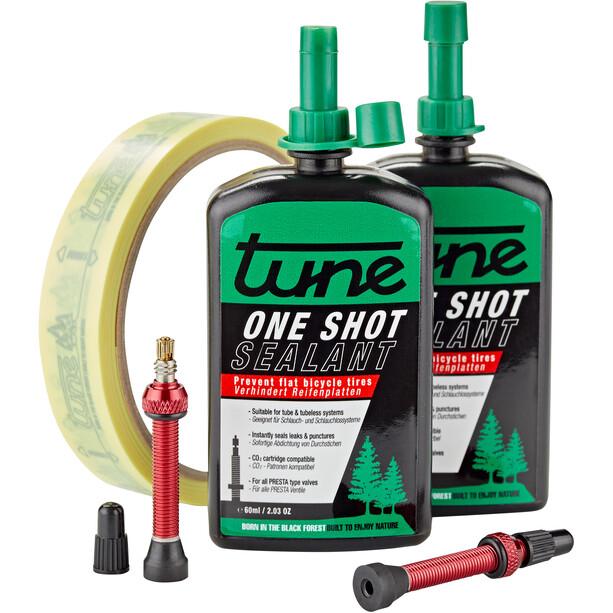 Tune One Shot Tubeless Kit Road 60ml incl. 20mm Red Rim Tape
