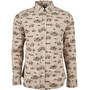 United By Blue Outpost LS Button Down Herr Mushroom/Adventure Mobile