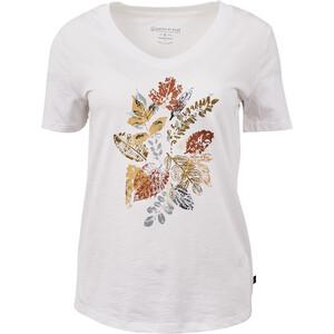 United By Blue Loose Leaf SS Graphic V-Ausschnitt T-Shirt Damen white white