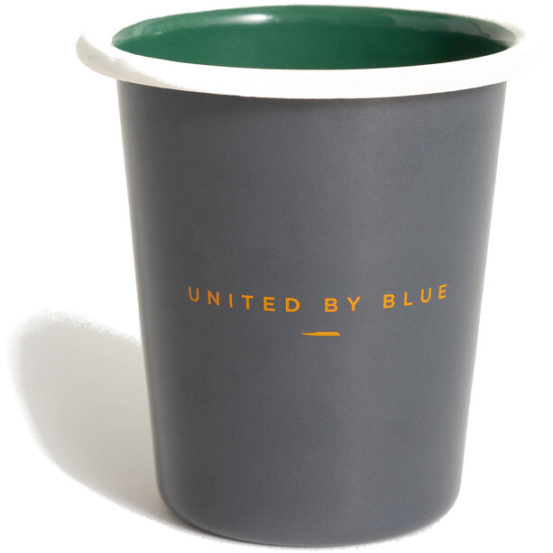 United By Blue Adventure Awaits Emaille Stahl Becher 235ml slate