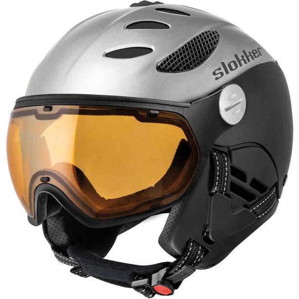 Slokker Balo Helm silver-black