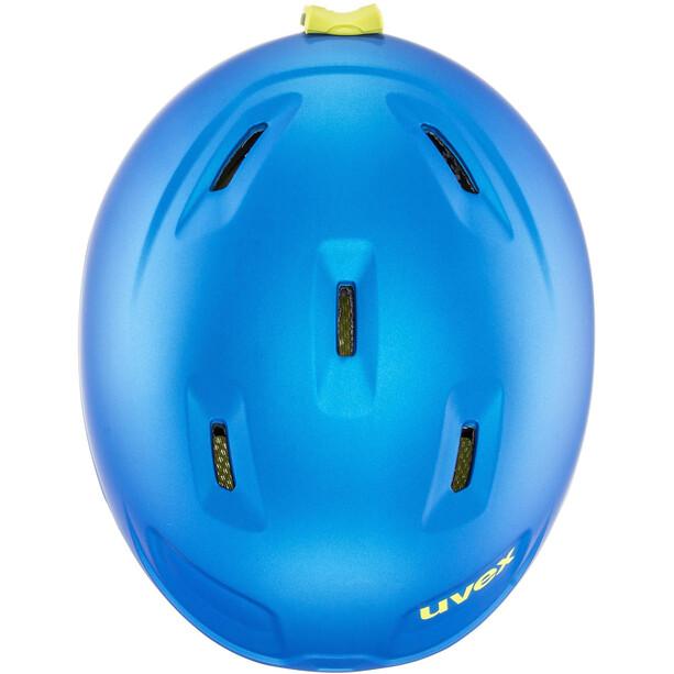 UVEX Manic Pro Helm Kinder blue-lime met mat