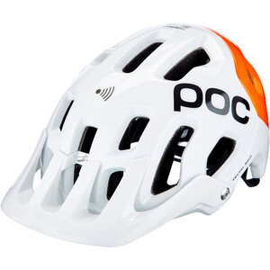 POC Tectal Race Spin NFC Kypärä, valkoinen/oranssi valkoinen/oranssi