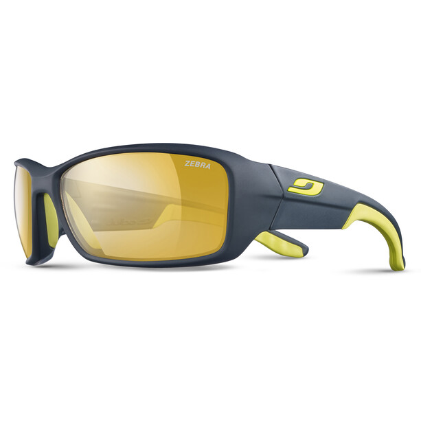 Julbo Run Reactiv Performance Sonnenbrille Herren dark blue/yellow/yellow brown