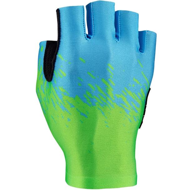 Supacaz SupaG Short Finger Gloves neon green/neon blue