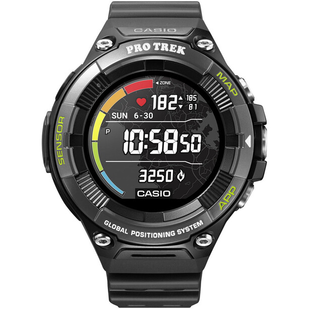 CASIO PRO TREK SMART WSD-F21HR-BKAGE Smartwatch Herren black