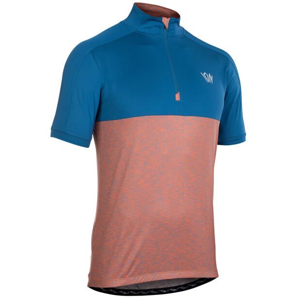 ION Paze Half-Zip Kurzarm-Shirt Herren ocean blue