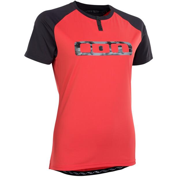 ION Traze Button Kurzarm-Shirt Damen pink isback