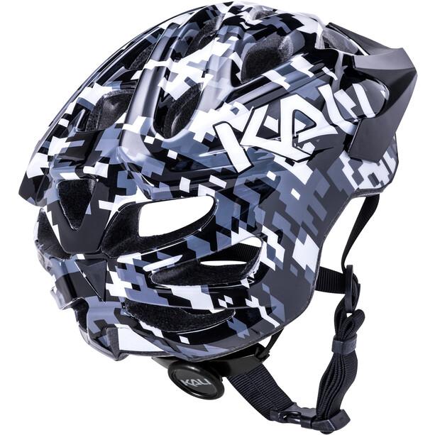 Kali Chakra Pixel Helm Jugend black