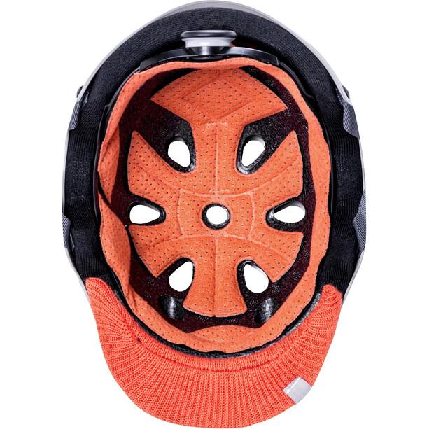 Kali Saha Helm matt grey/orange