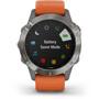 Garmin Fenix 6 Sappire Titanium Smartwatch grau/orange