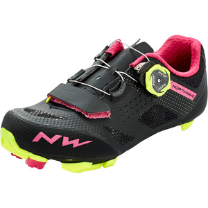 Northwave Razer Schuhe Damen black/fuchsia/yellow fluo black/fuchsia/yellow fluo