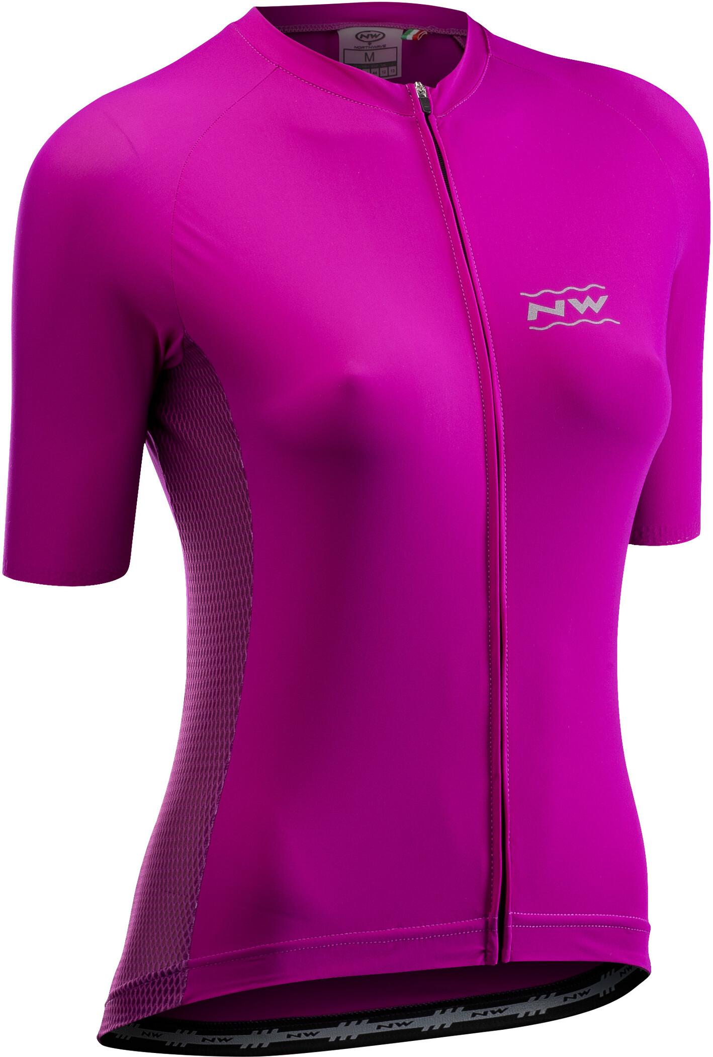 Northwave Xtrail Damen Fahrrad Trikot kurz pink//grün 2020