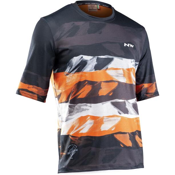 Northwave Xtrail MTB Short Sleeve Jersey Men black/orange/whit