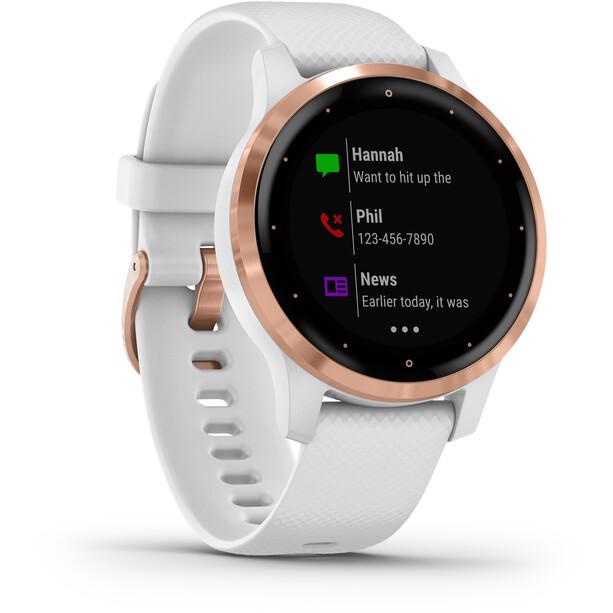 Garmin Vivoactive 4S Smartwatch white/rose gold