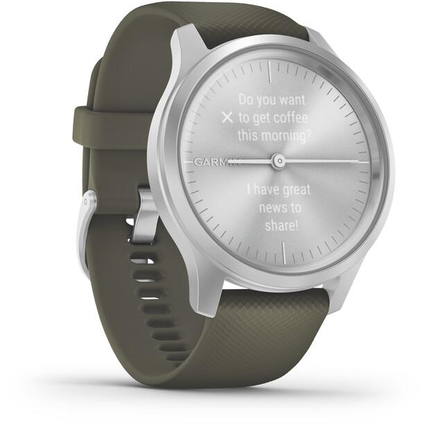 Garmin Vivomove Style Smartwatch silber/oliv