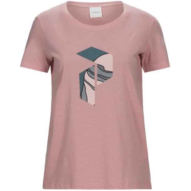 Peak Performance Explrr Print T-Shirt Dam Warm Blush