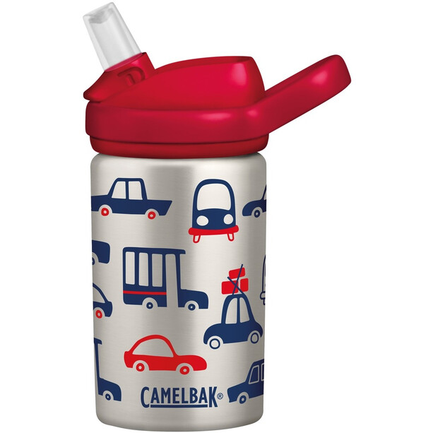 CamelBak eddy+ Kids Single Wall Edelstahlflasche 400ml Kinder cars & trucks