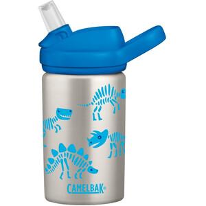 CamelBak eddy+ Kids Single Wall Gourde en inox 400ml Enfant, argent/bleu argent/bleu
