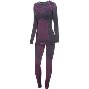 Viking Europe Margo Kompressionsunterwäsche Set Damen grey fuchsia grey fuchsia