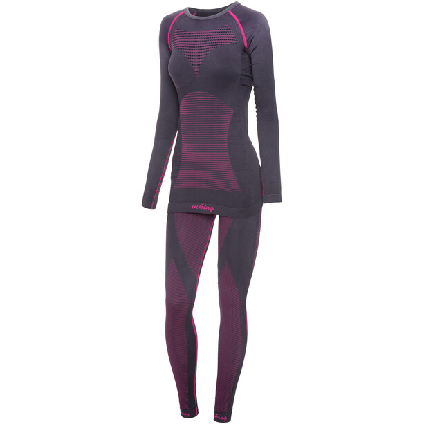 Viking Europe Margo Kompressionsunterwäsche Set Damen grey fuchsia