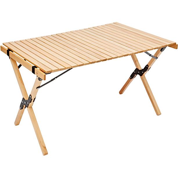 CAMPZ Buchenholz Ausroll-Tisch 90x60x70cm braun