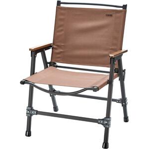 CAMPZ Silla Plegable Confort Aluminio L, marrón/negro marrón/negro