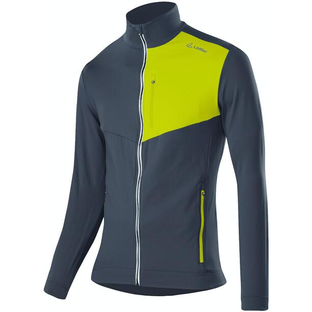 Löffler Thermo Velours Light Full-Zip Sweater Herren graphite/lime