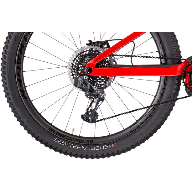 Trek Rail 9.9 matte trek black/gloss viper red