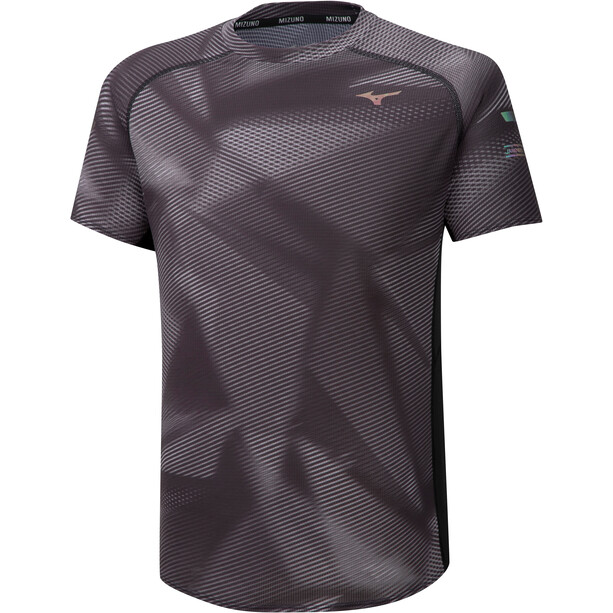 Mizuno Aero Graphic T-Shirt Herren black