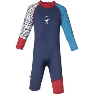 Isbjörn Sun jumpsuit Spedbarn Blå/rød Blå/rød