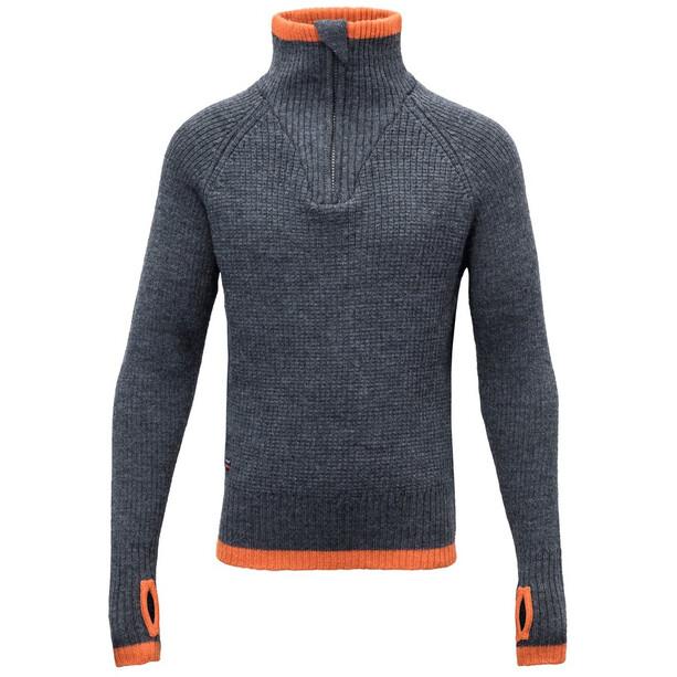 Devold Varde Zip Neck Sweater Ungdomar subsea