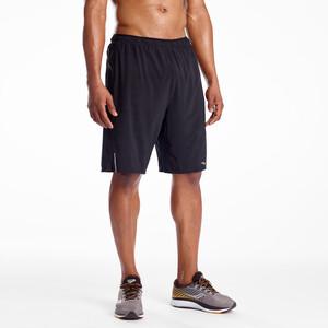 saucony Outpace 9 2-1 Shorts Herren black black