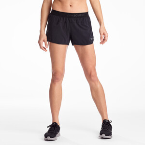 "saucony Split Second 2,5"" Shorts Damen black black"